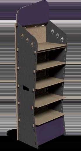 Illustration du présentoir en bois R-Lock