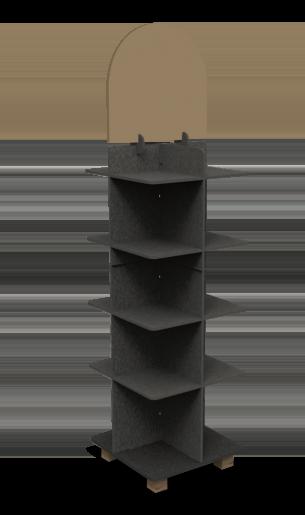 Illustration du présentoir en bois Selon vos exigences